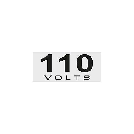 Placa Sinalizadora 110V Poliestireno 5 x 25cm Autoadesiva
