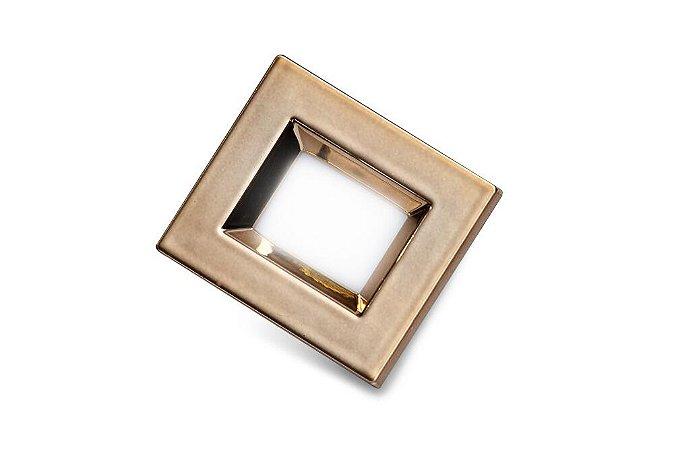 Luminaria Retangular 35mm 40X46 4 Leds - Luz Quente - LATAO