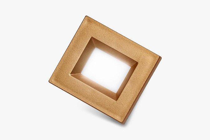 Luminaria Retangular 35mm 40X46 4 Leds - Luz Quente - ORO VECCHIO