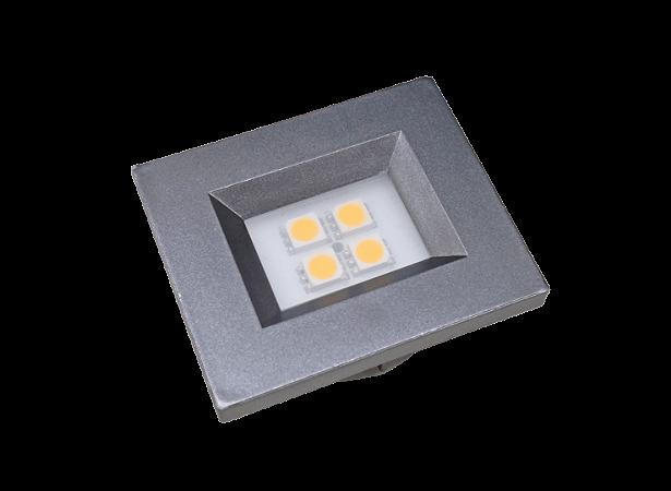 Luminaria Retangular 35mm 40X46 4 Leds - Luz Quente - TITANIUM