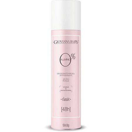 Desodorante Aerossol 0% Alumínio Classic Giovanna Baby 150ml