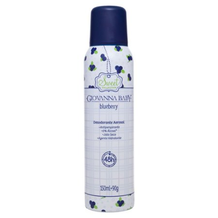 Desodorante Aerossol Blueberry Giovanna Baby 150ml