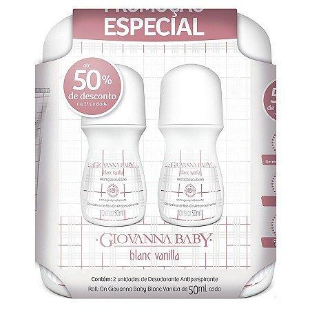 Kit 2 Desodorantes Roll on Blanc Vanilla Giovanna Baby 50ml