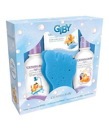 Kit Shampoo + Condicionador + Sabonete + Espuma de Banho Blue Giovanna Baby