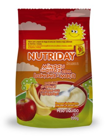 Mingau de Arroz Banana e Maçã – Nutriday