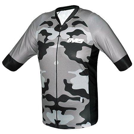 Camisa IMS Napoli camuflada ciclismo mtb - zíper inteiro