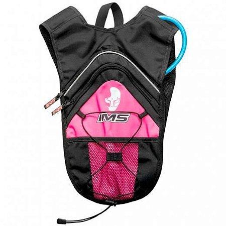 Mochila de hidratação 1,5L rosa offroad/bike/esportes