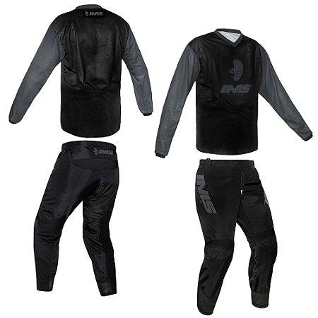 Conjunto Off-Road IMS MX Preto - Kit Calça e Camisa