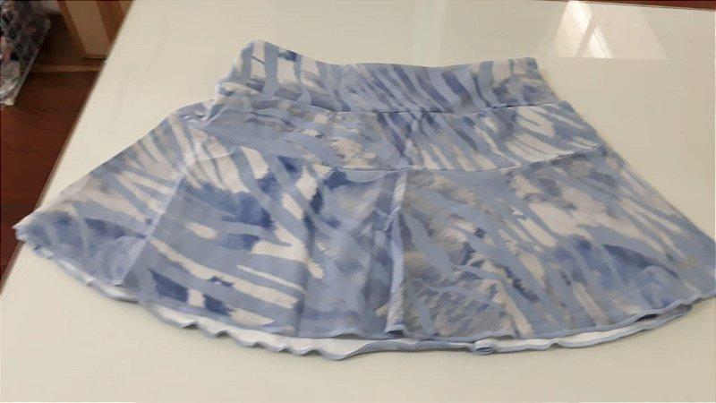 Shorts saia poliamida UV 50 com bolso interno light blue