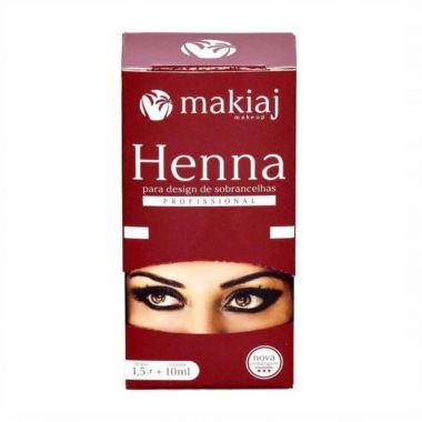 Henna Para Sobrancelhas em Pó Makiaj - Castanho medio