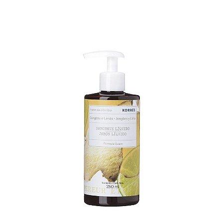 Sabonete Líquido Korres Gengibre e Limão 250ml