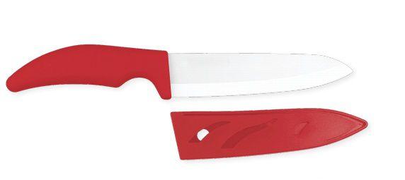 Faca do Chef em Cerâmica 28cm Mimo Style Vermelha