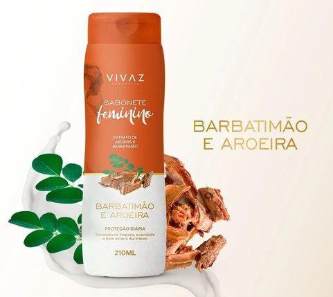 Sabonete Líquido Feminino Vivaz Barbatimão e Aroeira 220ml