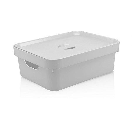 Caixa Organizadora Cube M com Tampa Branco da OU