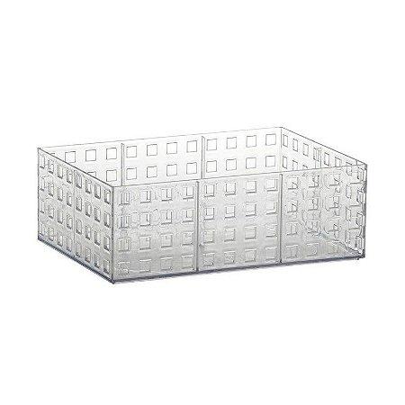 Organizador Empilhavel Quadratta 23x16x8cm Cristal