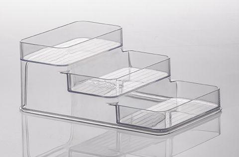 Organizador Triplo Diamond 26x16x10cm Cristal
