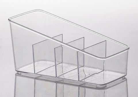 Organizador com Divisórias Diamond 27x13x13cm Cristal