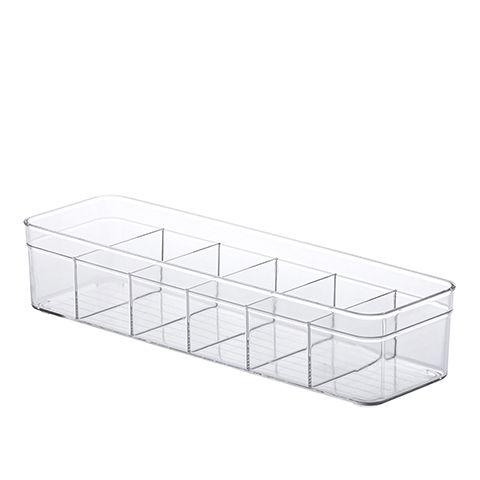 Organizador com Divisórias Diamond 35,5x10,5x7,5cm Cristal