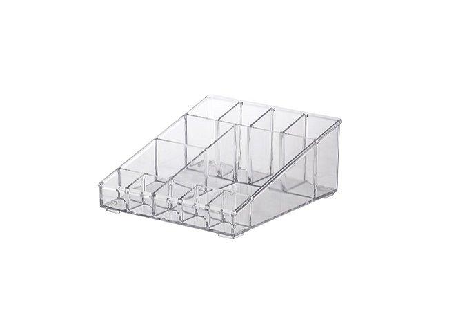 Organizador Cosmeticos Elegajnce 18,5x16,5x8cm Cristal