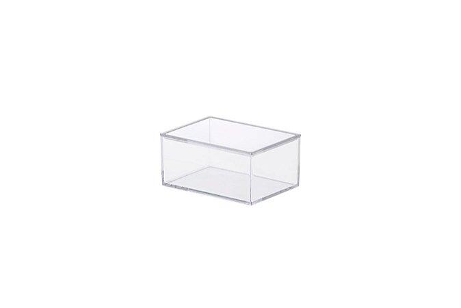 Caixa Organziadora Elegance 11x8x5,5cm Cristal