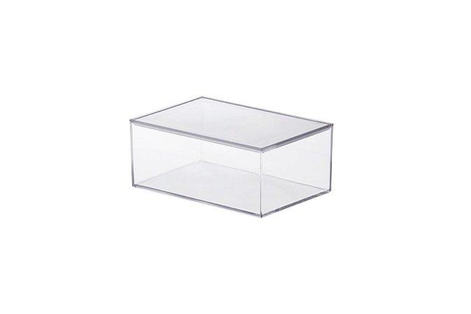 Caixa Organizadora Elegance 16,5x11x7cm Cristal