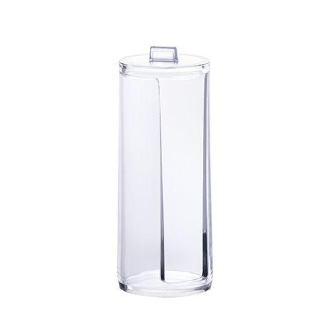 Porta Algodão Redondo Elegance 19,5x7,5cm Cristal