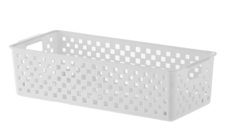 Cesto Organizador Quadratta 34x15x9cm Branco