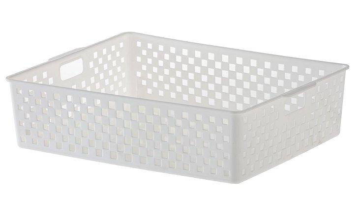 Cesto Organizador Quadratta 34x27x9cm Branco