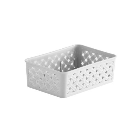 Cesto Organizador Rattan 19x13x6,5cm Branco