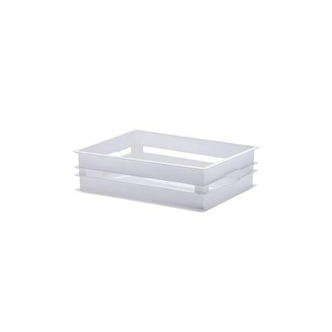 Caixote Organizador Empilhavel 19x14x5,5cm Branco
