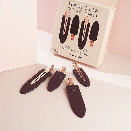 Hair Clip Mariana Saad - Clipes de Cabelo Marsala