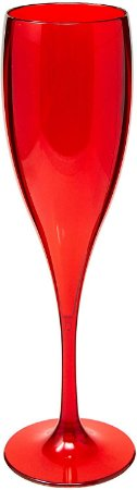 Taça de Champanhe Vitra Vermelha 150ml da OU