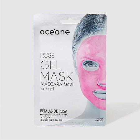 Rose Gel Mask - Máscara facial em gel - pétalas de rosas Oceane