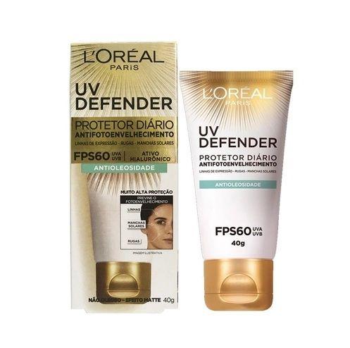 Protetor Solar Facial L'oreal 40g FPS60 Antioleosidade