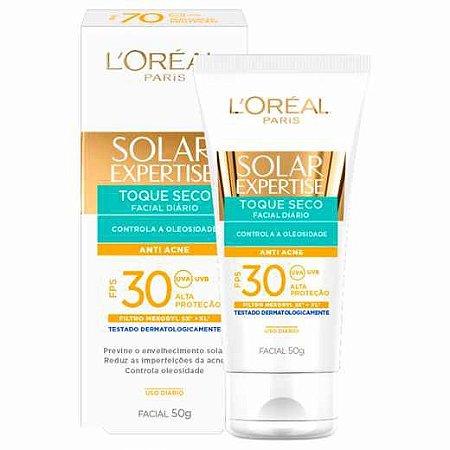 Protetor Solar L'oreal Expertise Facial FPS30 Toque Seco 50g