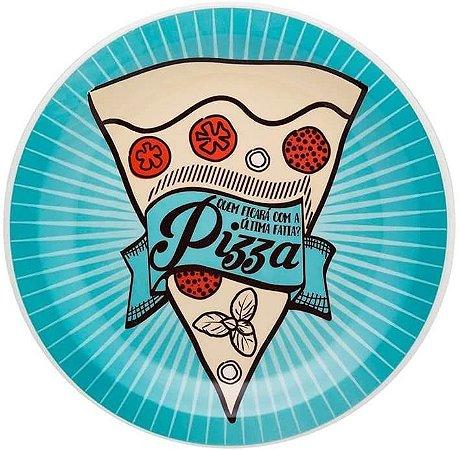 Prato Raso Pizza Azul 26cm