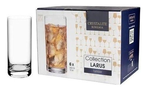 Jogo de 6 Copos Cristal Bohemia Larus 350ml