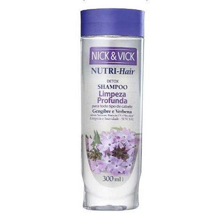 Shampoo Nick Vick 300ml Limpeza Profunda Todos os Tipos de Cabelo