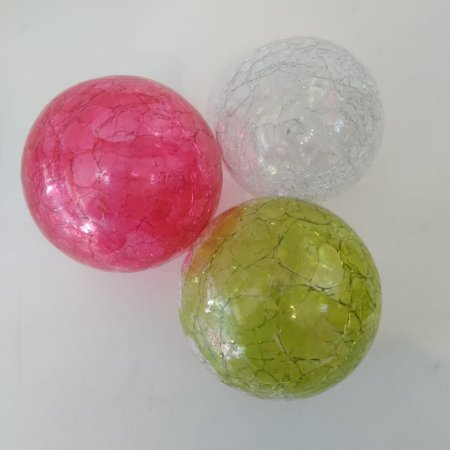 Esferas de Vidro Artesanais com Cores Sortidas