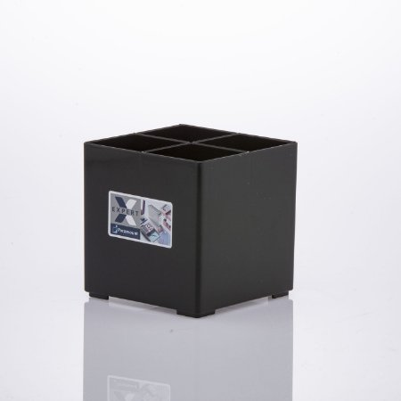 Organizador 4 Divisórias Expert 10x10x10cm Preto
