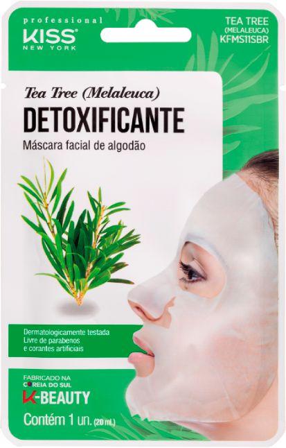 Máscara Facial Kiss Ny De Algodão Tea Tree Melaleuca