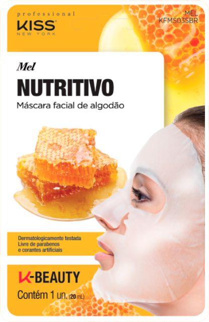 Máscara Facial Kiss Ny de Algodão MEL