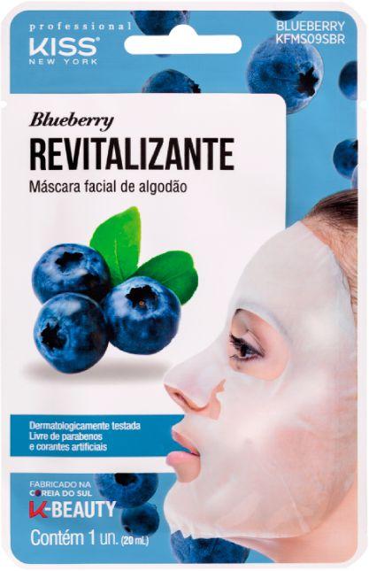 Máscara Facial Kiss Ny De Algodão Blueberry