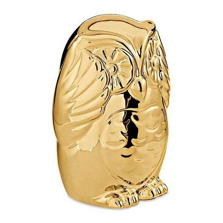 Coruja Sábia Dourada Sem Ouvir