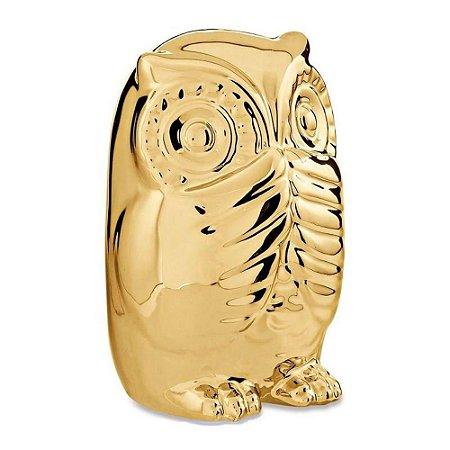 Coruja Sábia Dourada Sem Falar