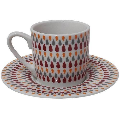 Jogo De 12 Xícaras de Café Porcelana Gotas 90ml
