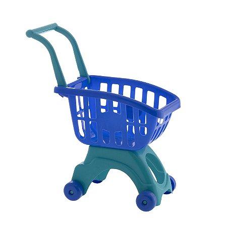 Carrinho de Compras Infantil Azul