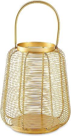Lanterna Dourada em Metal