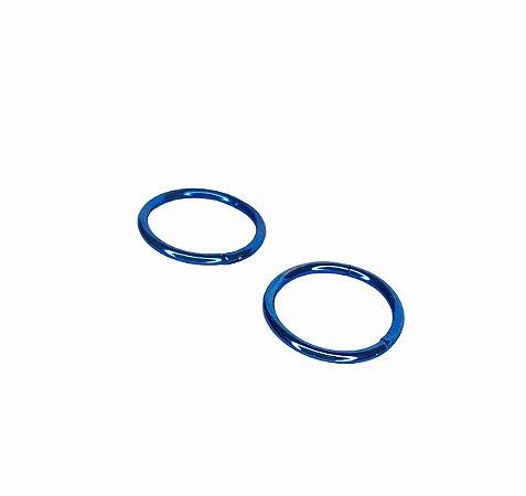 Argola Segmento Articulado Titânio Lisa -Azul- 1.2/10mm