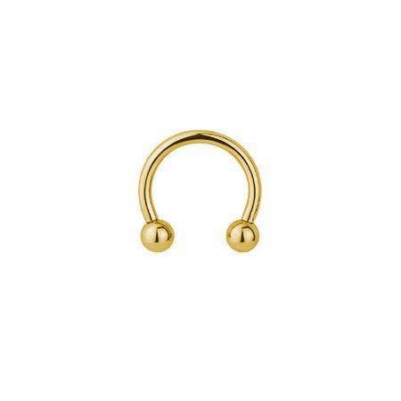 Piercing Ferradura em Aço PVD Gold - 10mm